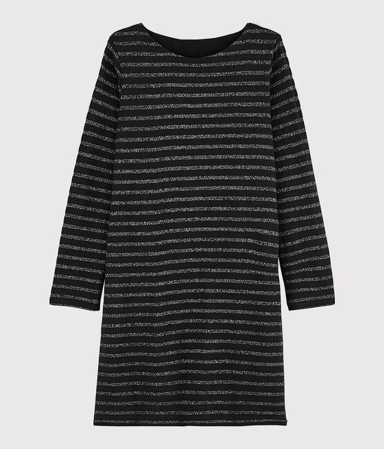 Robe marinière Femme NOIR/ARGENT