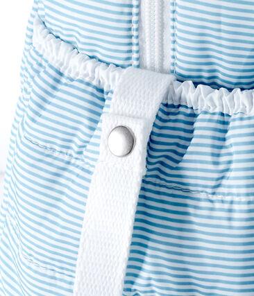 Sac à langer bébé mixte milleraies bleu Fontaine / blanc Marshmallow