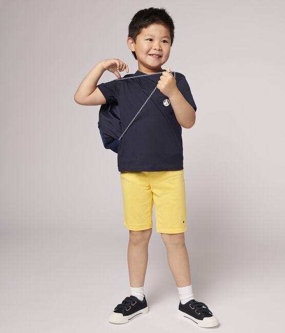 Bermuda en jersey enfant garçon jaune Raiponce