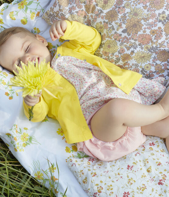 Cardigan léger bébé fille-garçon jaune Eblouis