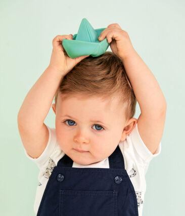 Salopette courte bébé garçon bleu Smoking