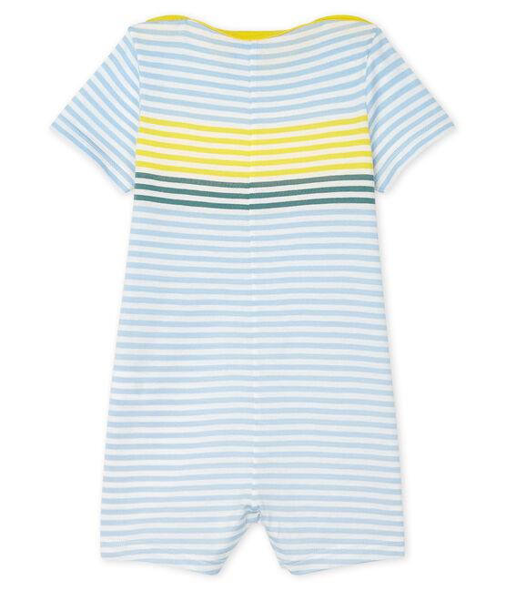 Combicourt bébé garçon rayé blanc Marshmallow / blanc Multico