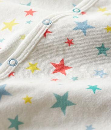 Dors bien bébé garçon en tubique blanc Marshmallow / blanc Multico