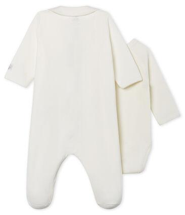 Dors bien zippé bébé en velours blanc Marshmallow
