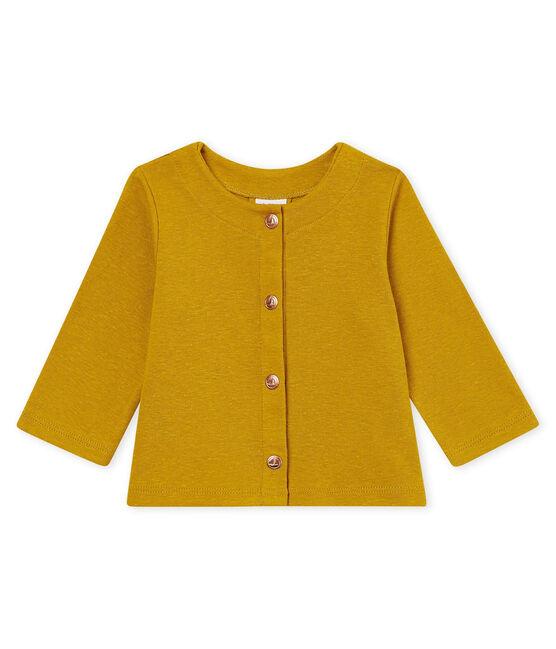 Cardigan bébé fille en coton/lin jaune Bamboo