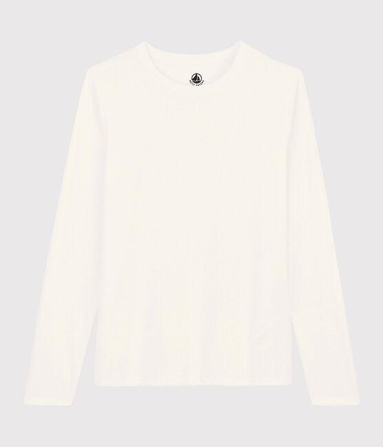 T-shirt coton Sea Island Femme blanc Marshmallow