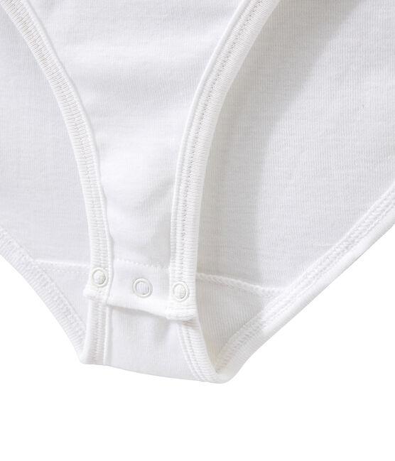 Body femme BODYCONIQUE en coton blanc Ecume