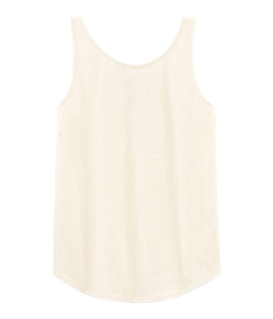 Debardeur lin femme blanc Marshmallow