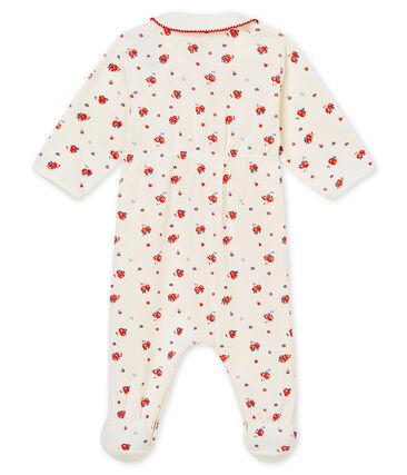 Dors bien bébé fille en côte 1x1 grattée imprimée