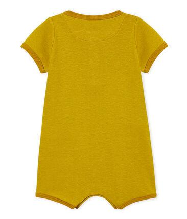 Combicourt bébé fille en coton et lin jaune Bamboo