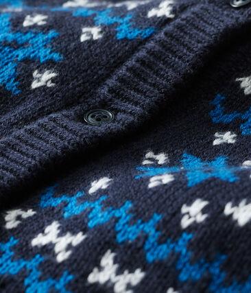 Cardigan bébé garçon laine et coton