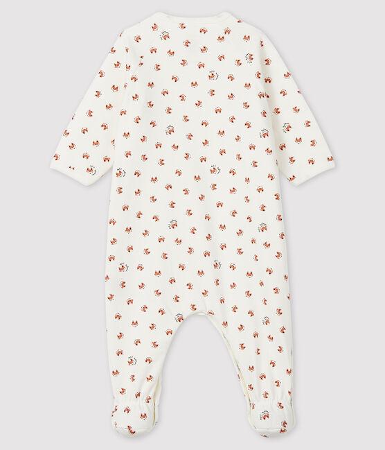 Dors-bien à imprimé renard bébé en molleton blanc Marshmallow / blanc Multico