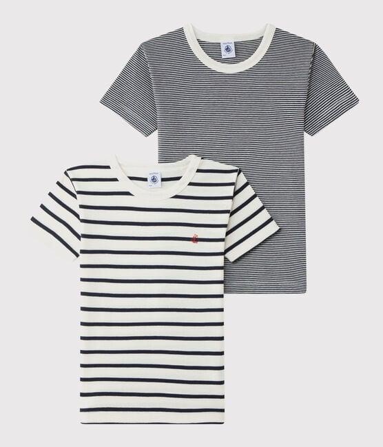 Lot de 2 tee-shirts rayés petit garçon lot .