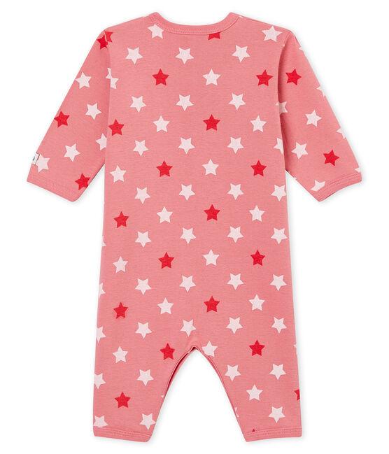 Dors bien sans pieds bébé fille rose Cheek / blanc Multico
