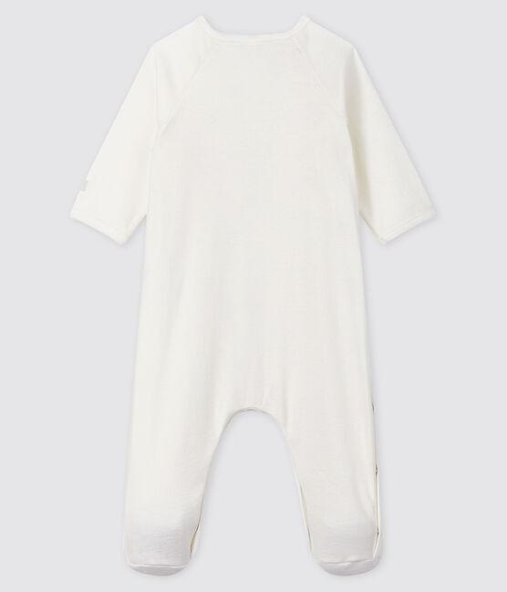 Dors-bien bébé blanc en coton biologique blanc Marshmallow