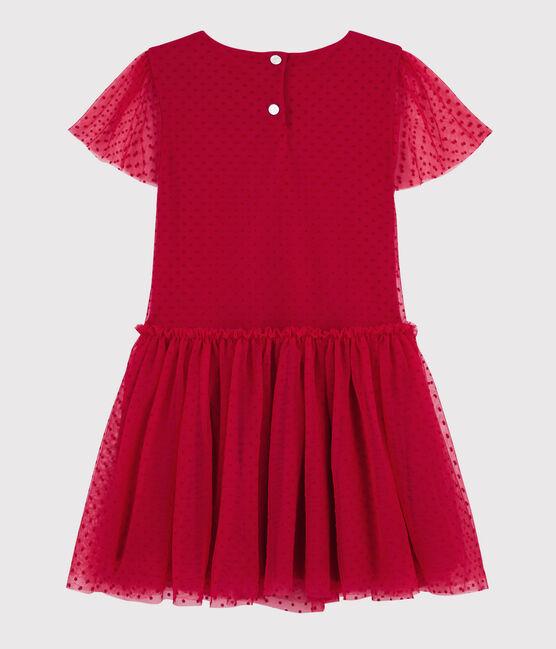 Robe manches courtes enfant fille rouge Terkuit