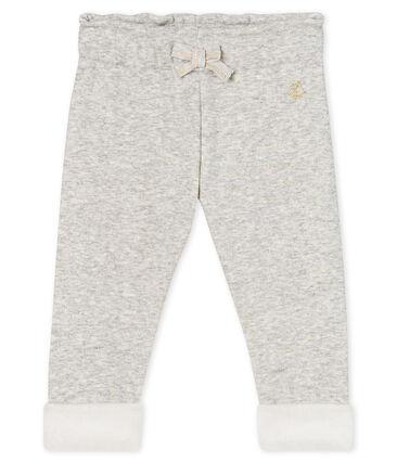 Pantalon bébé fille en maille velours gris Beluga Chine