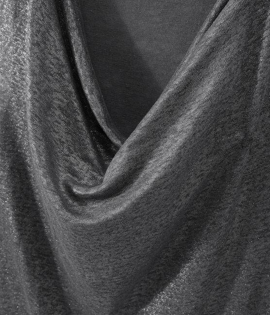 Top femme en lin irisé gris Maki / gris Argent
