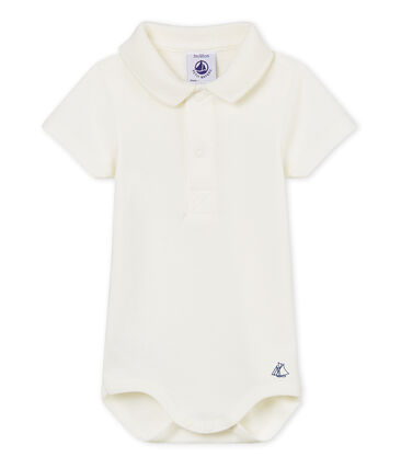 Body col polo bébé garçon blanc Marshmallow