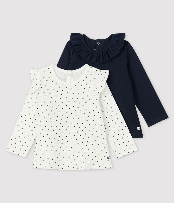 Lot de 2 blouses bébé fille lot .