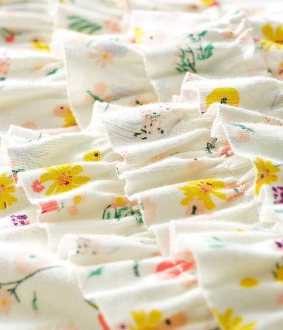 Culotte bloomer bébé fille imprimée blanc Marshmallow / blanc Multico
