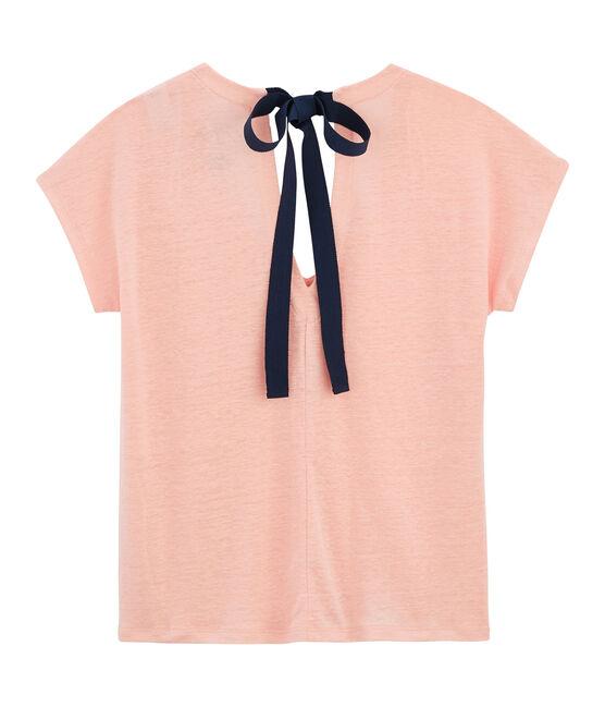 Tee shirt lin femme rose Patience