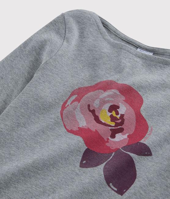 Tee-shirt sérigraphié enfant fille gris Subway