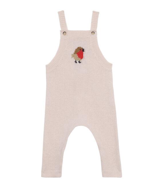 Salopette longue bébé garçon en tricot laine, nylon et alpaga. FLEUR