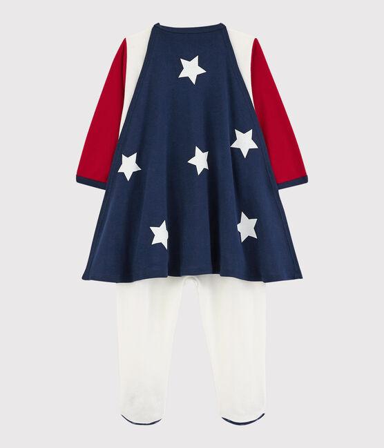 Dors-bien déguisement super-bébé en coton rouge Terkuit / blanc Marshmallow