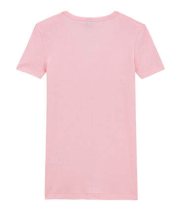 T-shirt femme col V en côte originale
