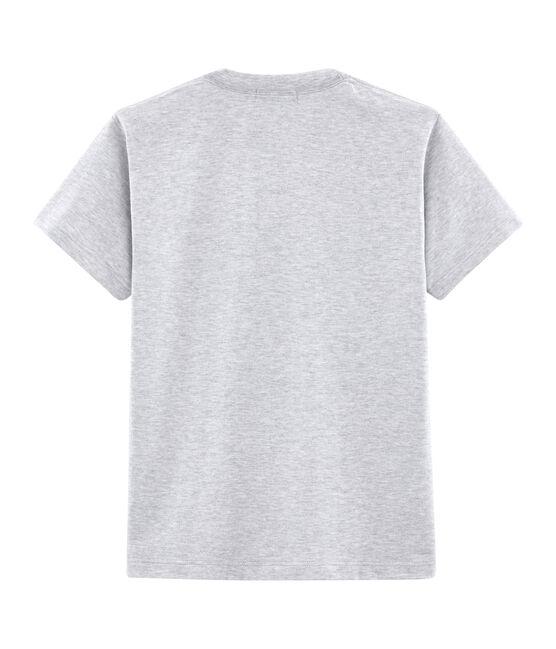 Tee-shirt mixte motif carte postale gris Poussiere Chine