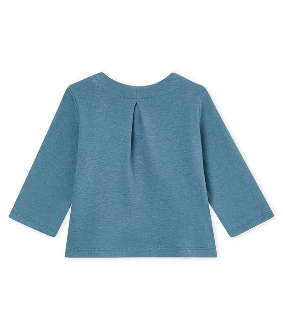 Cardigan bébé fille en coton/lin bleu Crystal