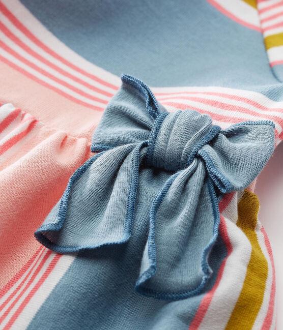 Robe mc rayee bebe fille blanc Marshmallow / blanc Multico