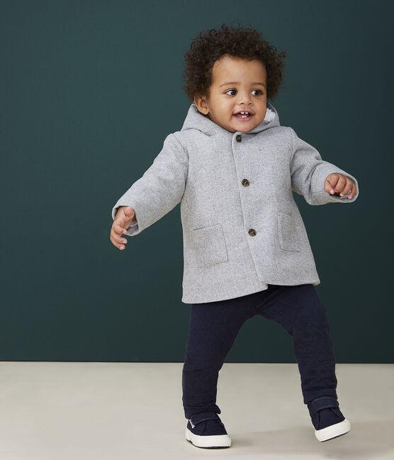 Manteau bébé garçon en laine GRIS CHINE