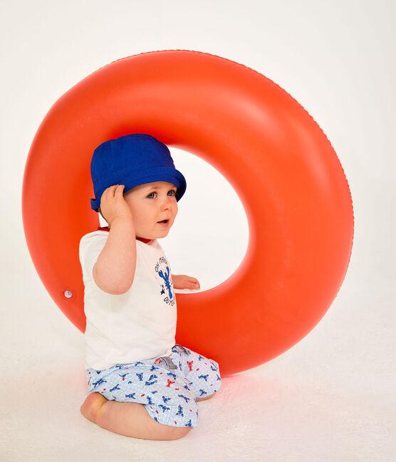 Short imprimé bébé garçon blanc Marshmallow / blanc Multico