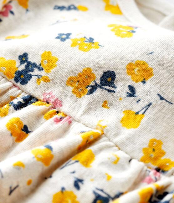 Robe manches longues bébé fille beige Montelimar / blanc Multico