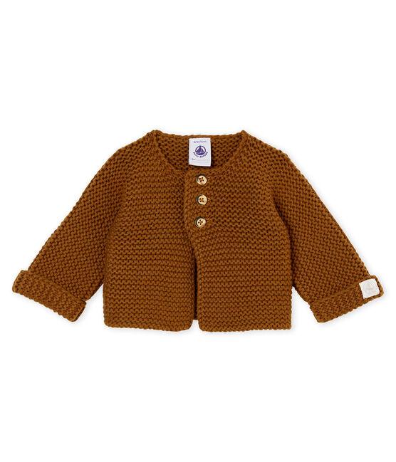Cardigan point mousse bébé mixte marron Autumn