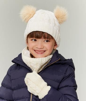 Snnod enfant fille blanc Marshmallow / jaune Or