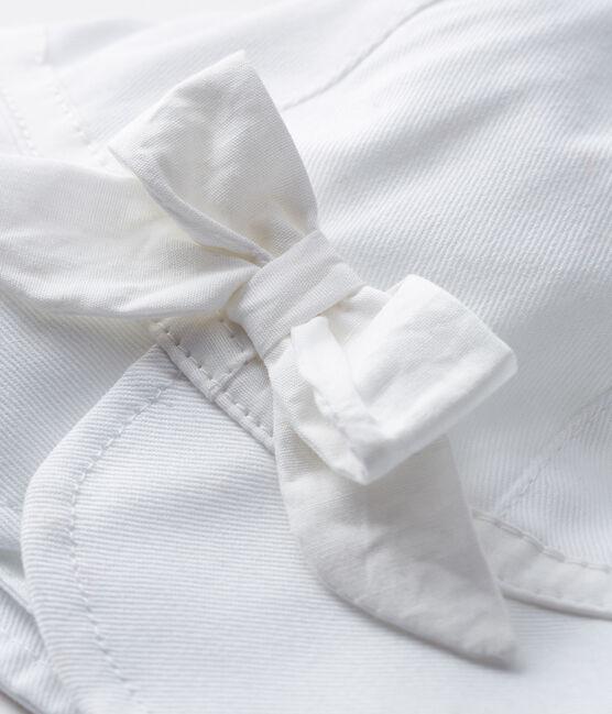 Capeline en twill bébé fille blanc Marshmallow