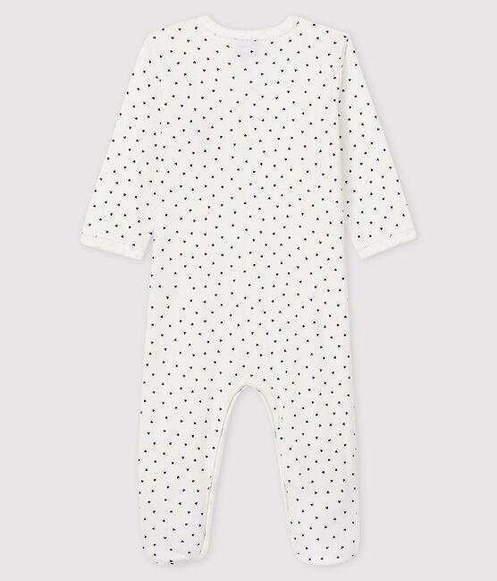 Dors-bien Paris bébé fille en côte blanc Marshmallow / bleu Medieval