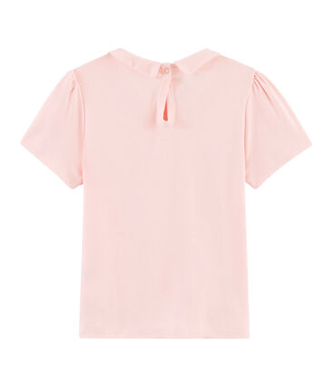 Tee-shirt enfant fille rose Minois