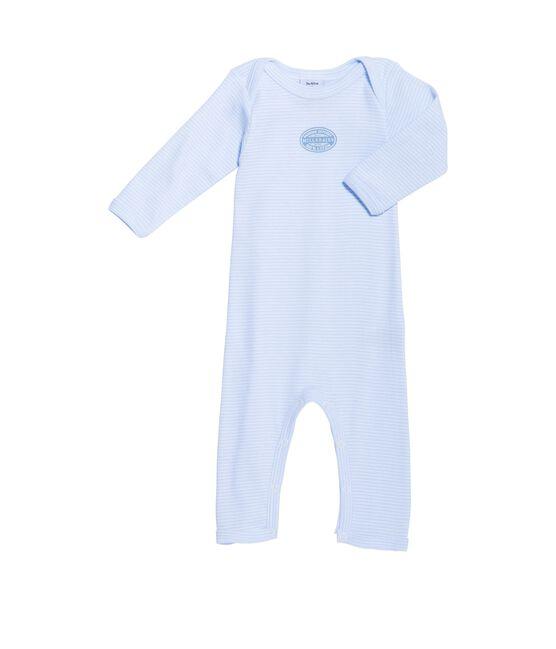 Body long bébé garçon à milleraies bleu Fraicheur / blanc Ecume