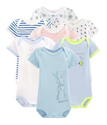 Pochette surprise de 7 bodies manches courtes bébé garçon lot .