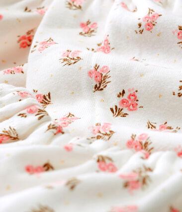 Robe et bloomer bébé fille en côte blanc Marshmallow / blanc Multico