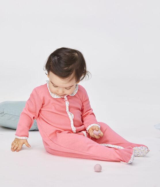 Dors bien bébé fille en côte rose Cupcake