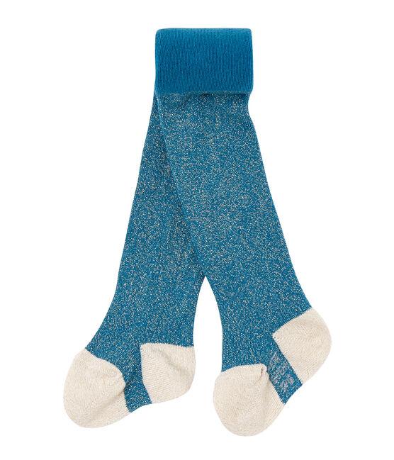 Collant bébé fille en lurex bleu Contes