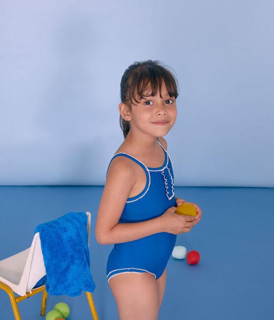 Maillot de bain 1 pièce enfant fille bleu Riyadh