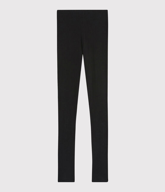 Legging laine et coton Femme noir Noir