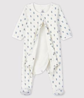 Bodyjama à imprimé koala bébé garçon en velours blanc Marshmallow / blanc Multico