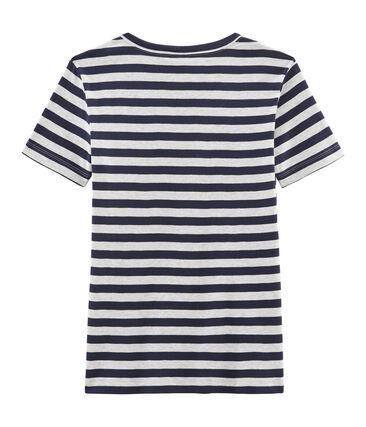 Tee shirt iconique femme bleu Smoking / gris Beluga